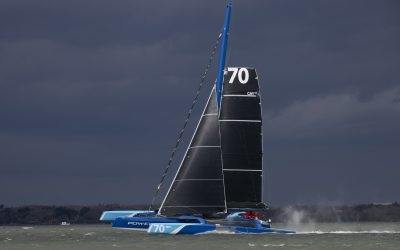 New Fastnet record: MOD70 PowerPlay sets new fastest time
